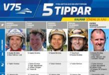 fem tippar v75 till kalmar 26 juni 2016