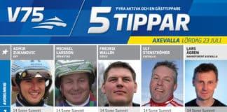 fem tippar v75 till axevalla 23 juli 2016