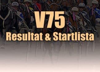v75 resultat och startlista