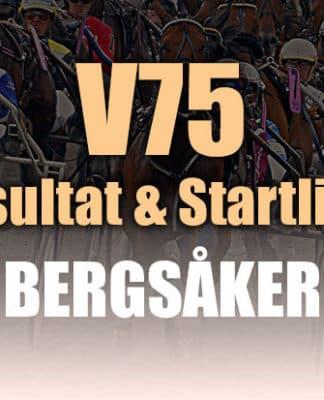 Resultat Startlista V75 Bergsåker