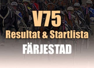 Resultat Startlista V75 Färjestad