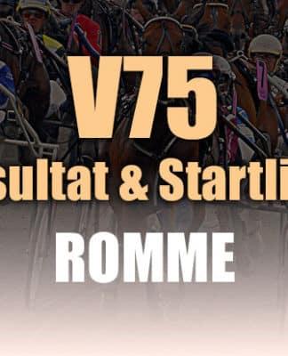 Resultat Startlista V75 Romme