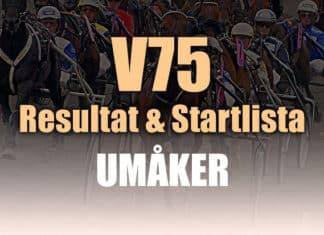 V75 Resultat Startlista Umåker