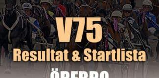 V75 Resultat Startlista Örebro