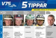 Fem tippar V75 till Bollnäs 16 september 2017