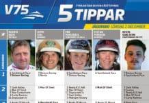 Fem tippar V75 till Jägersro 2 december 2017