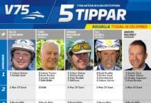 Fem tippar V75 till Solvalla 26 december 2017