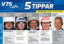 Fem tippar V75 till Halmstad 30 december 2017