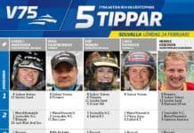 Fem tippar V75 till Solvalla 24 februari 2018