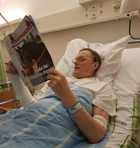 72-årige Jan Norberg är kvar på sjukhuset