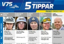 Fem tippar V75 till Örebro 5 maj 2018