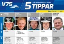 Fem tippar V75 till Åby Lördag 12 maj 2018