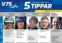 Fem tippar V75 till Gävle 19 maj 2018