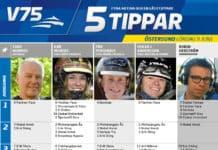 Fem tippar V75 till Östersund 9 juni 2018