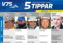 Fem tippar V75 till Rättvik 4 augusti 2018