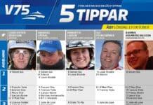 Fem tippar V75 till Åby 13 oktober 2018