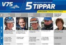 Fem tippar V75 till Bergsåker 8 december 2018