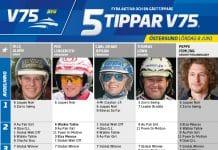 Fem tippar V75 till Östersund Lördag 8 juni 2019