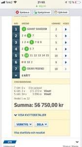 Stort grattis till er som köpte andel i vår Samarbetspartner - Cigarrmagasinet Hässleholms fysiska butik igår! Sååå NÄRA full pott! Landade till slut på 3 SEXOR och 54 FEMMOR som gav varje andel över 56.000! NU ÄR DET JACKPOT på Lördag och 40 miljoner extra i potten! NU TAR VI DEN! https://tillsammans.atg.se/inbjudan/533F-2E5C-54413 Vi på ALLTOMTRAV.INFO som spelar andelar i Ombudslaget vill hänga på succén! Dessutom aktiveras som vanligt JANNES SMÄLLKARAMELL nu när det är JACKPOT! https://tillsammans.atg.se/inbjudan/533F-2E5C-54413