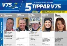 Fem tippar V75 till Solvalla Lördag 2 november 2019