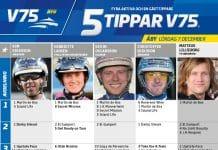 Fem tippar V75 till ÅBY Lördag 7 december 2019