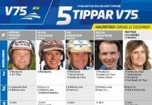 Fem tippar V75 till Halmstad 21 december 2019
