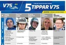 Fem tippar V75 till ROMME Lördag 28 december 2019