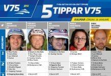 Fem tippar V75 till Kalmar 18 januari 2020