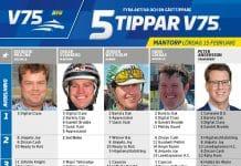 Fem tippar V75 till Mantorp 15 februari 2020