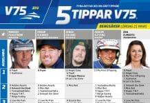 Fem tippar V75 till Bergsåker 21 mars 2020
