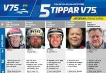 Fem tippar V75 till Jägersro 4 april 2020