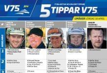 Fem tippar V75 till Umåker 18 april 2020