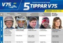 Fem tippar V75 till Örebro 2 maj 2020