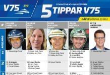Fem tippar V75 till Gävle 23 maj 2020