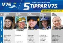 Fem tippar V75 till Bergsåker 27 juni 2020