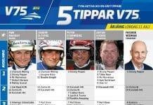 Fem tippar V75 till Årjäng 11 juli 2020