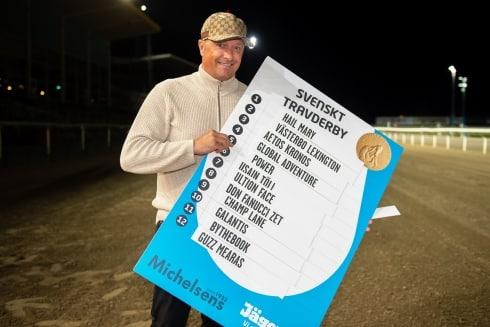 Bergh har valt häst i Svenskt Travderby