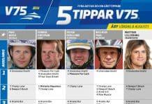 Fem tippar V75 till ÅBY lördag 8 Augusti 2020
