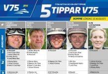 Fem tippar V75 till ROMME lördag 15 augusti 2020