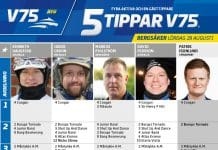 Fem tippar V75 till Bergsåker 29 augusti 2020