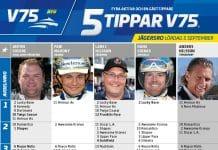 Fem tippar V75 till Jägersro 5 september 2020