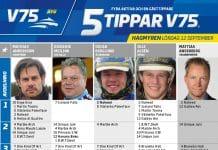 Fem tippar V75 till Hagmyren 12 September 2020