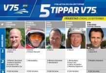 Fem tippar V75 till Färjestad 19 september 2020