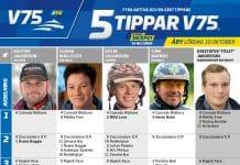 Fem tippar V75 till ÅBY Lördag 10 Oktober 2020