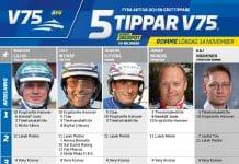 Fem tippar V75 till Romme 14 november 2020