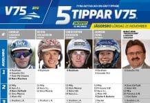 Fem tippar V75 till Jägersro 21 november 2020