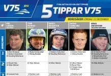 Fem tippar V75 till Bergsåker 12 december 2020