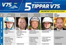Fem tippar V75 till Halmstad 19 december 2020