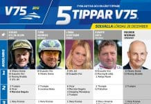 Fem tippar V75 till Solvalla 26 december 2020