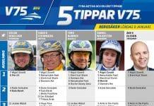 Fem tippar V75 till Bergsåker 9 januari 2021